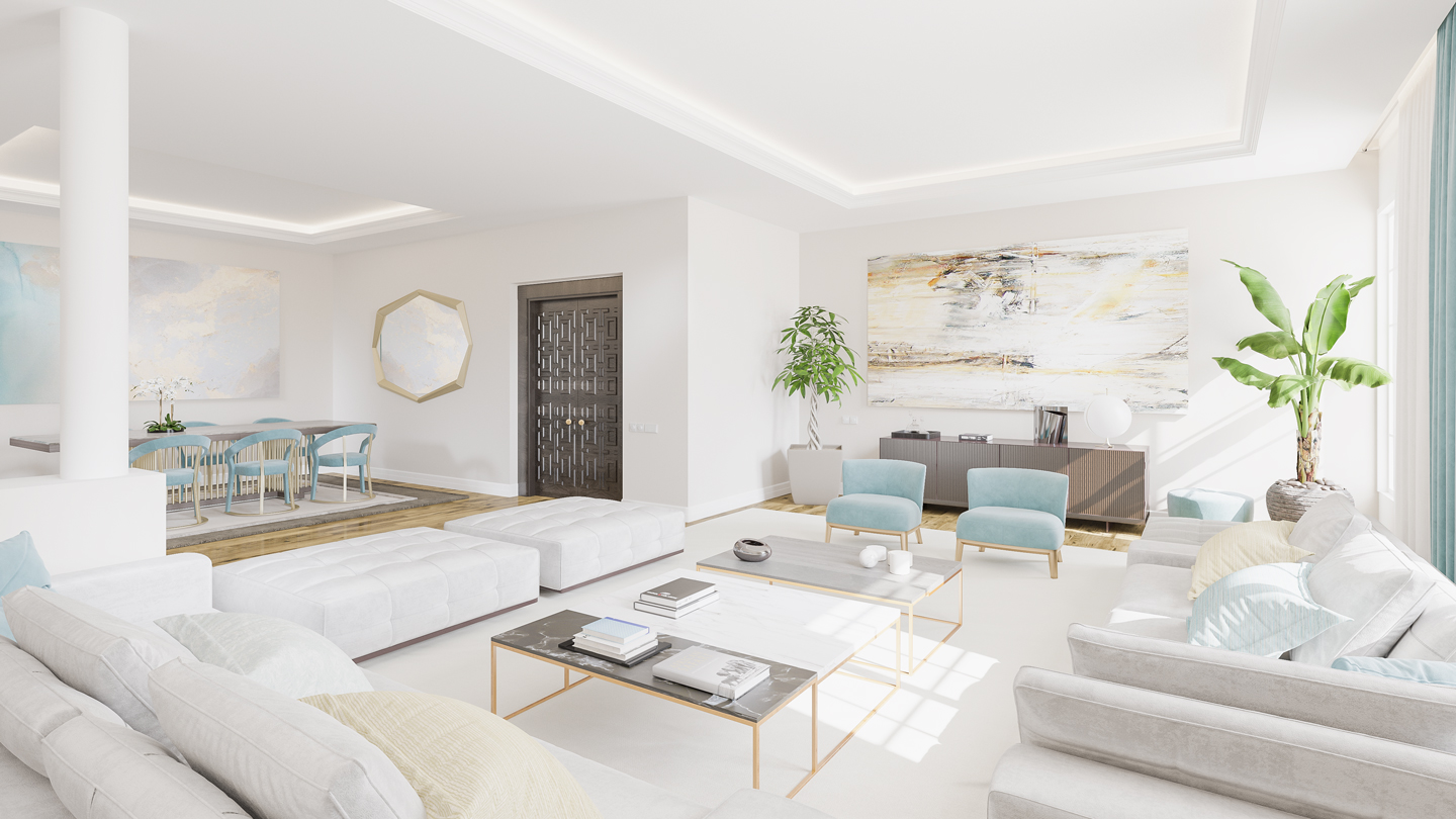 Render 3D de interiorismo Madrid