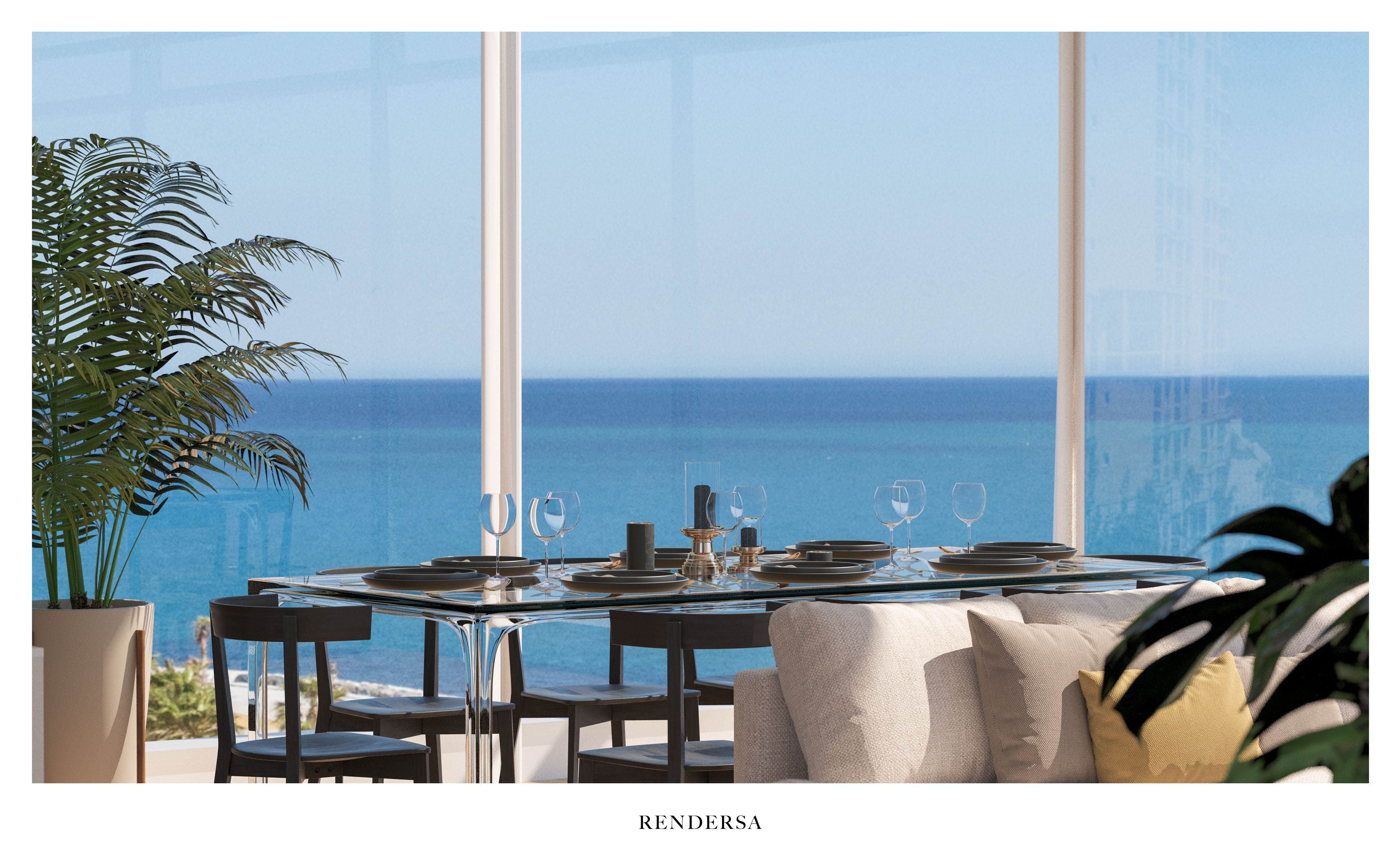 3D Architectural Rendering Dining Room South Beach, Miami Beach