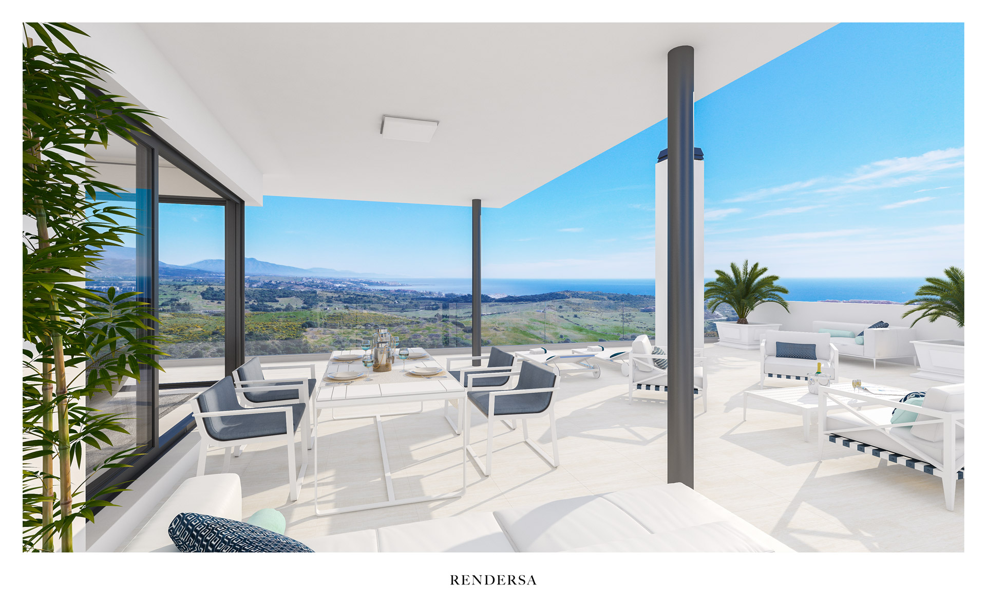 3D architectural rendering Finca Cortesin Bon Air
